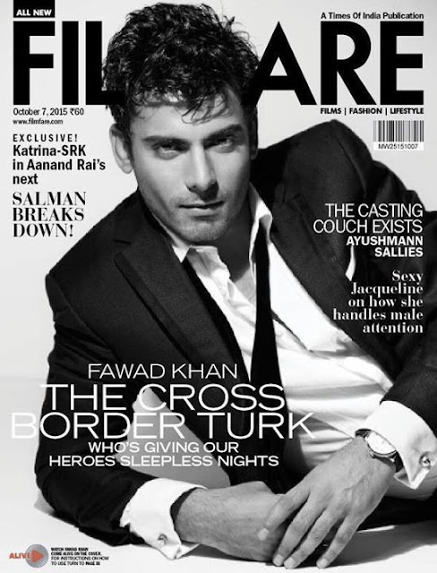 Fawad Khan featured on the Cover of FilmFare Magazine