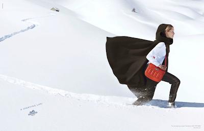 Iselin Steiro photographiée par Nathaniel Goldberg pour la campagne automne/hiver 2013 d'Hermès