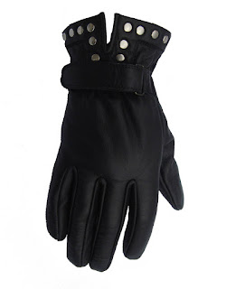 AbbyShot Unisex Studded Gloves in 100% Leather