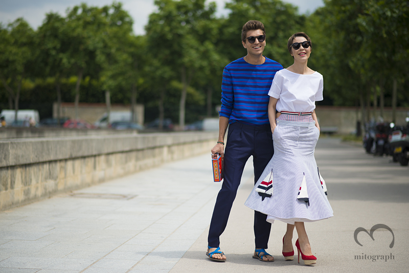 mitograph Frol Burimskiy and Ulyana Sergeenko Before Christian Dior Paris Haute Couture Fashion Week 2013 Fall PFW Street Style Shimpei Mito