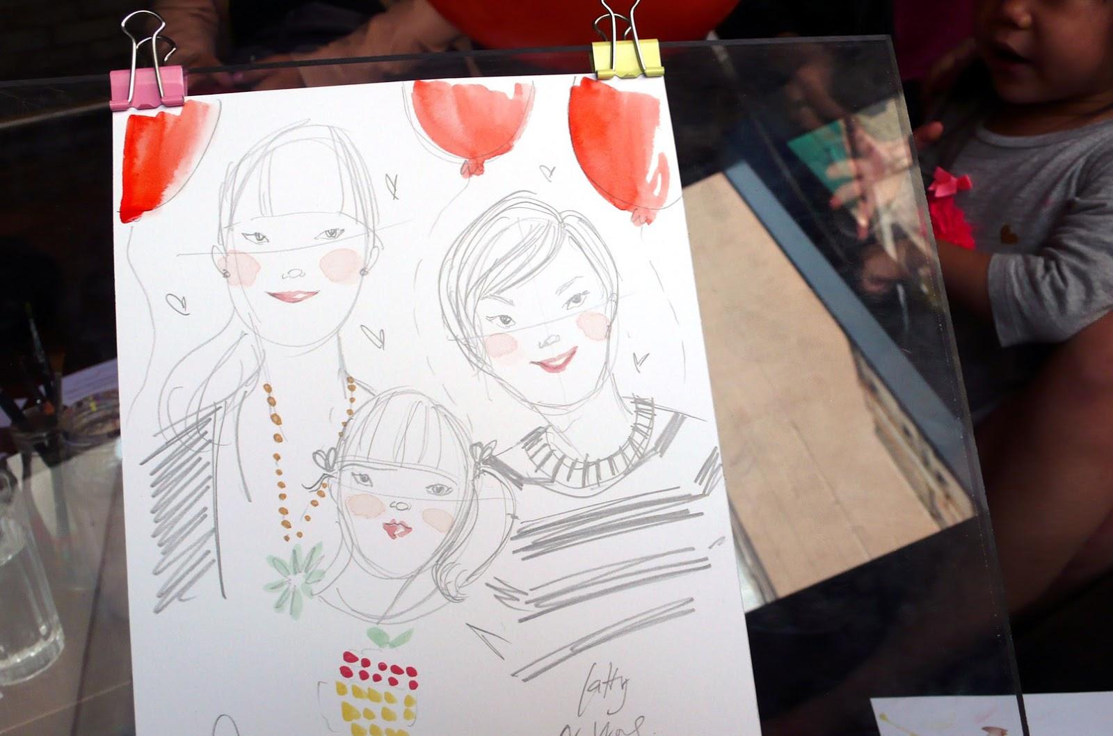 Kitty N. Wong / Live sketch booth at Sassy Mama Awards