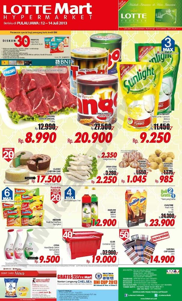 Lottemart Weekend Promo Terbaru Periode 12 – 14 Juli 2013