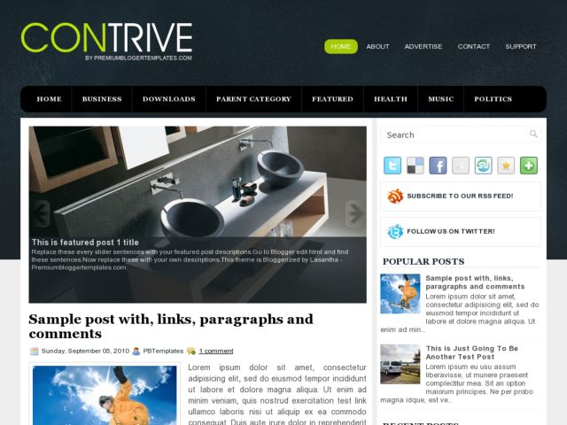 Contrive Blogger Template