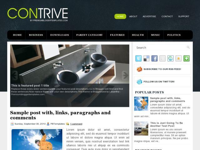 Contrive Blogger Template