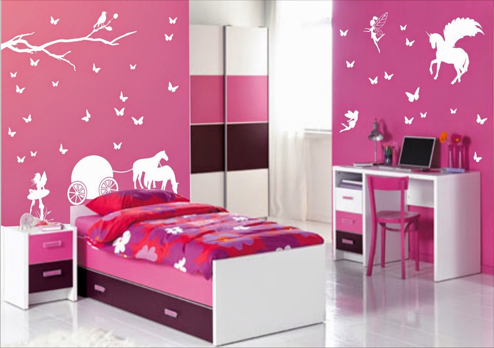 Girls Bedroom Ideas - Bedroom paint ideas for girls