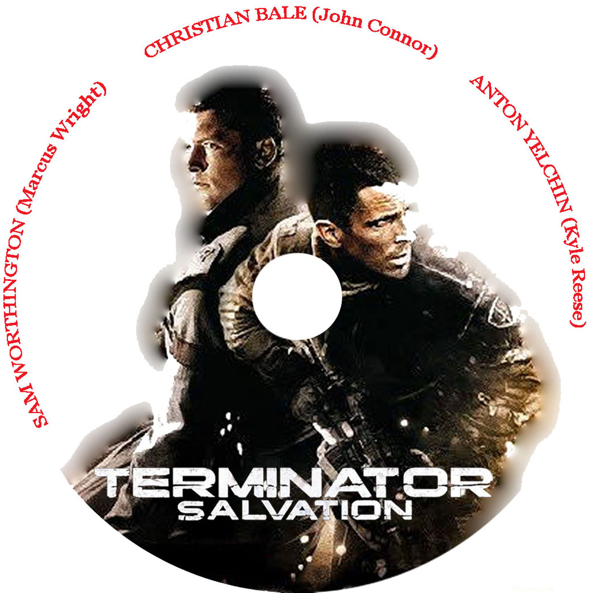 Terminator Salvation DVD Label