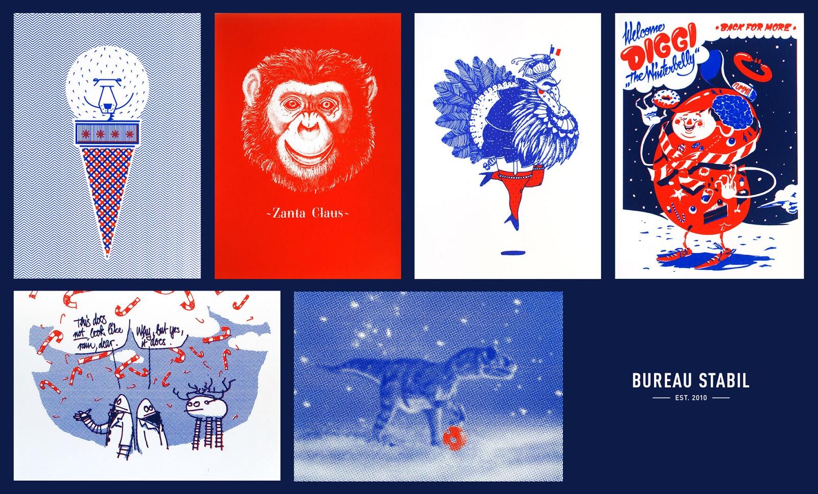 Bureau Stabil: Siebdruckreihe zu Weihnachten
