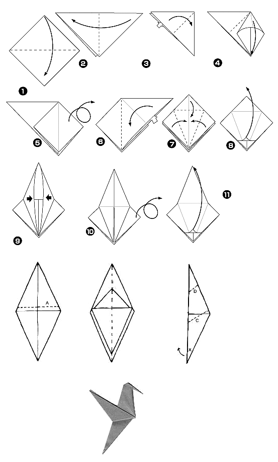 1000  ideas about origami birds on pinterest