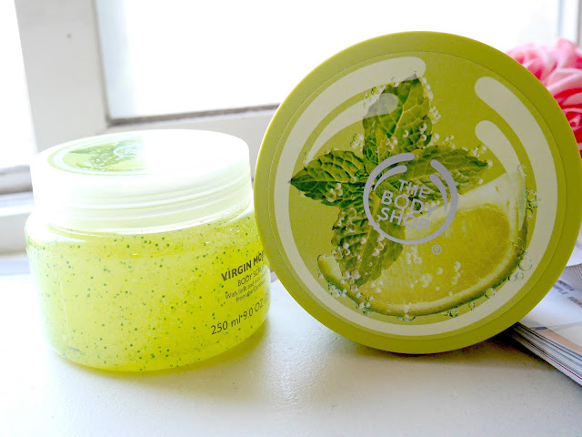 the body shop virgin mojito body scrub and body butter review