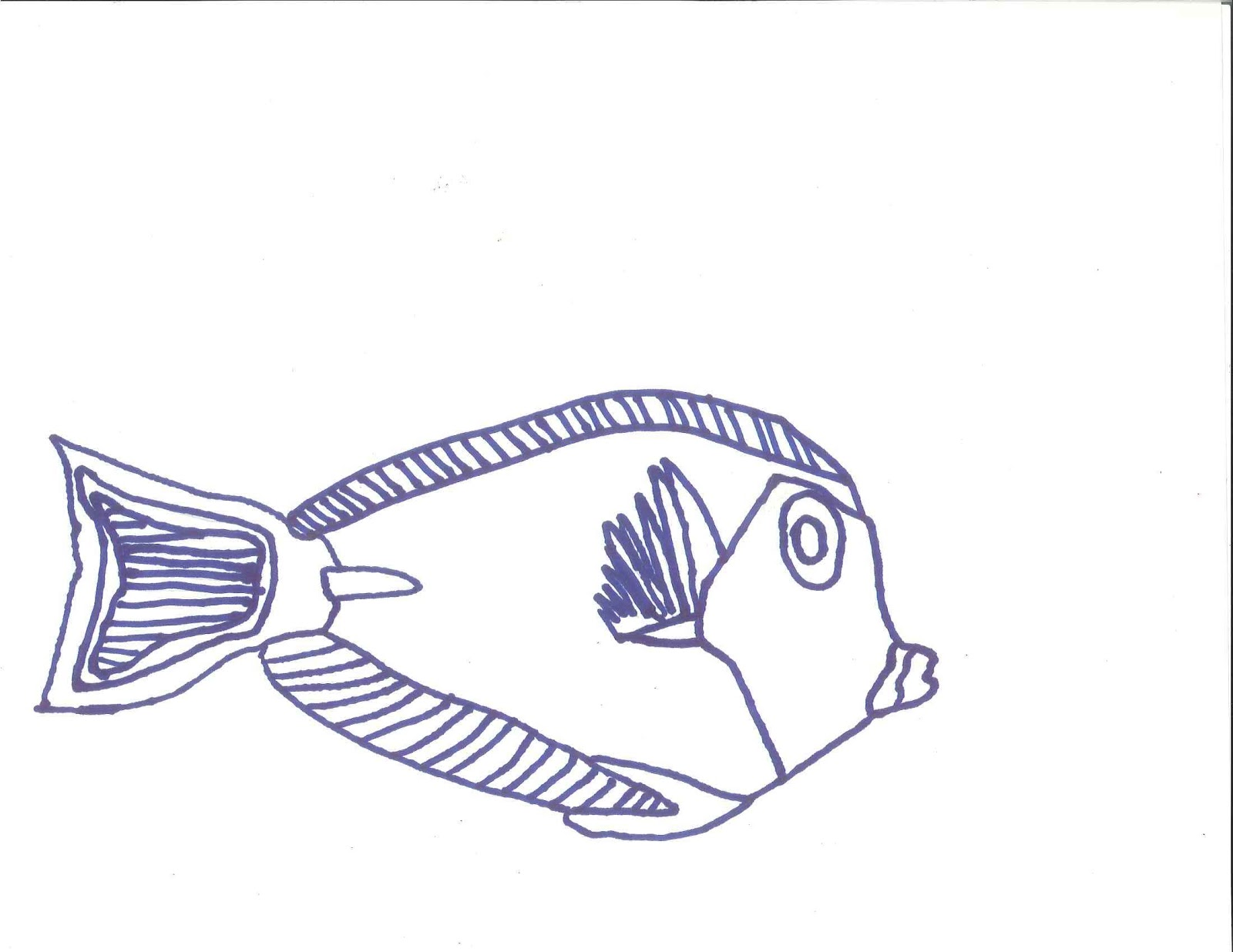 How to draw how to draw a fish for kids  Hellokidscom