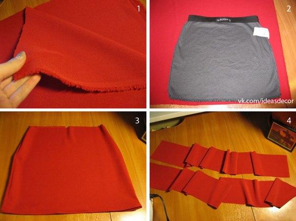 Как сшить юбку с поясом своими руками фото