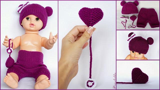 Комплект для фотосессии новорожденной девочки