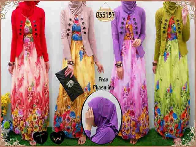 Mala Maxi Dress Ceruty Bunga