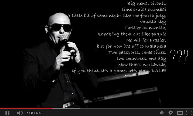 Lirik Lagu Pitbull & Shakira - Get It Started, Mirip Kronologi Tragedi MH370?