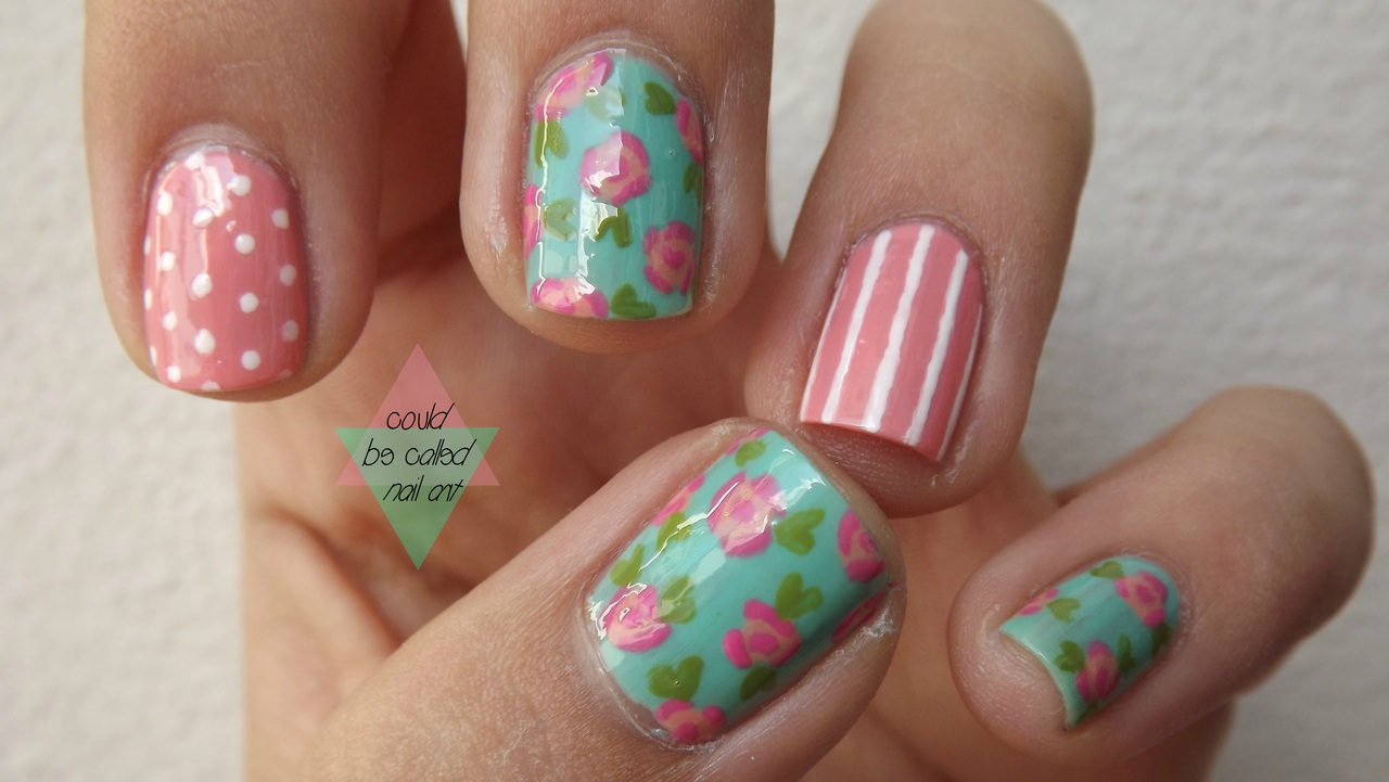 Summer Flower Nail Art Design
