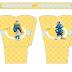 Smurfs: Free Printable Basket.