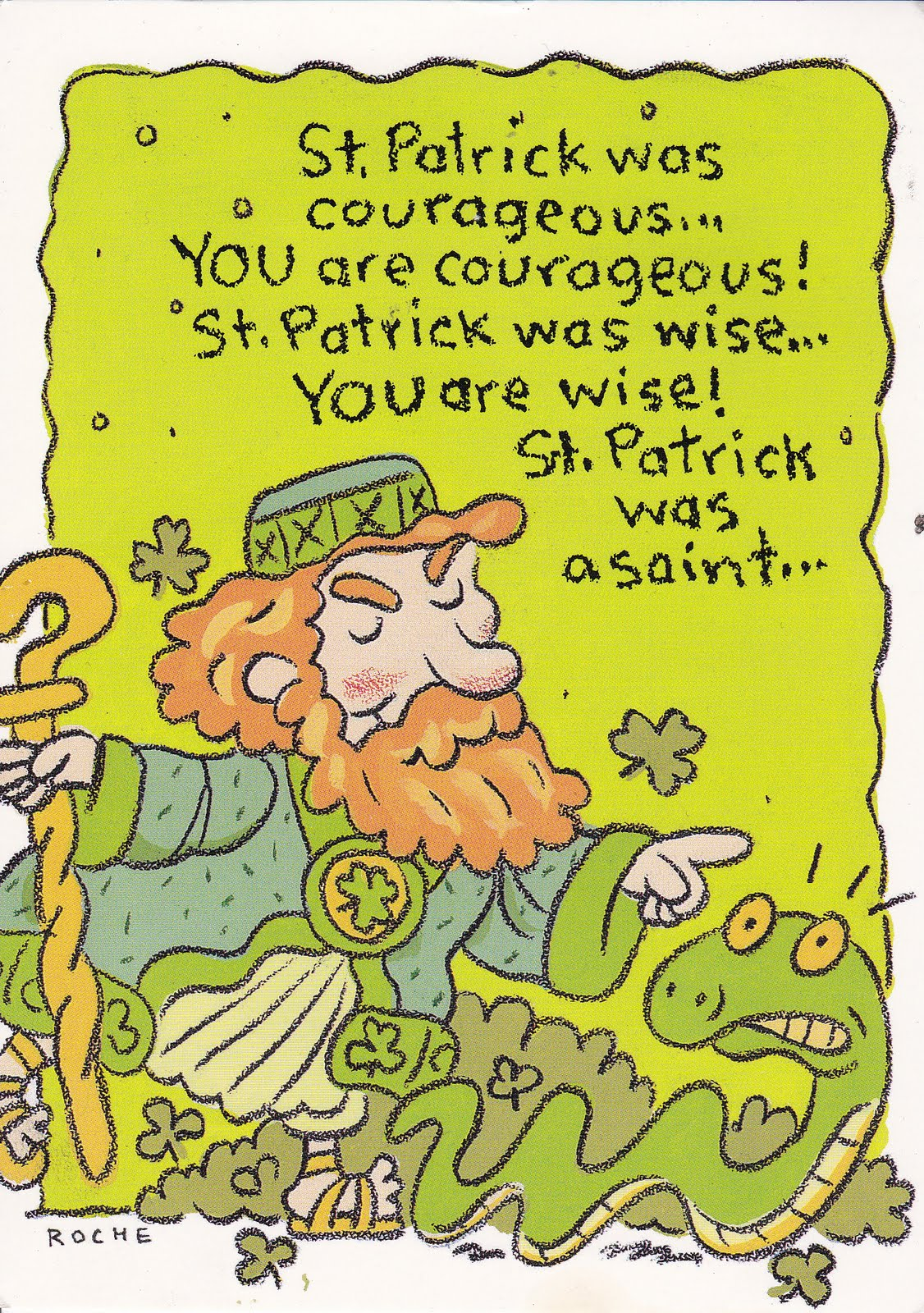 My Life Scanned St Patricks Day Cards From Mom And Dad