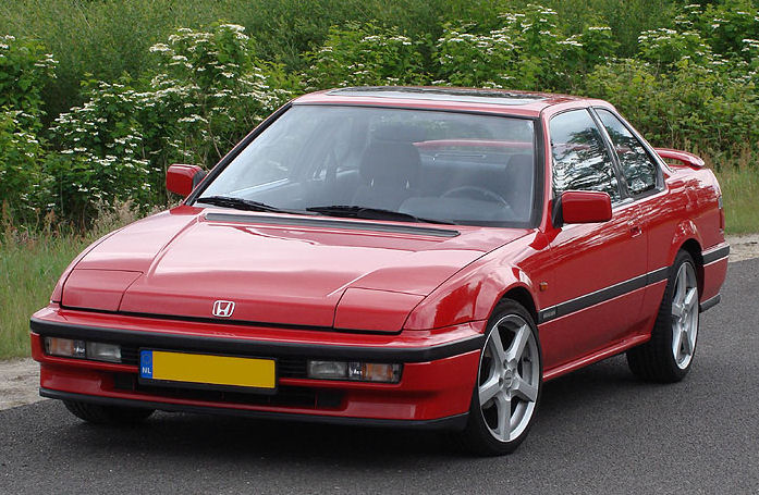 Prelude 88 91 3rd Honda Prelude 4ws 1990 G3 Front View Red