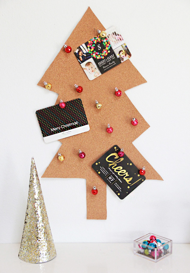 A Bubbly Life: DIY Christmas Tree Card Holder & Ornament Pushpins