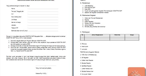 Berkas Penerimaan Bantuan Pemberdayaan Mgmp Pai Smp 2015