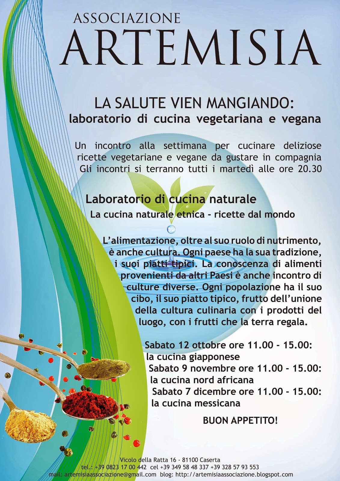 associazione artemisia: laboratorio di cucina vegetariana e vegana - Blog Di Cucina Vegana