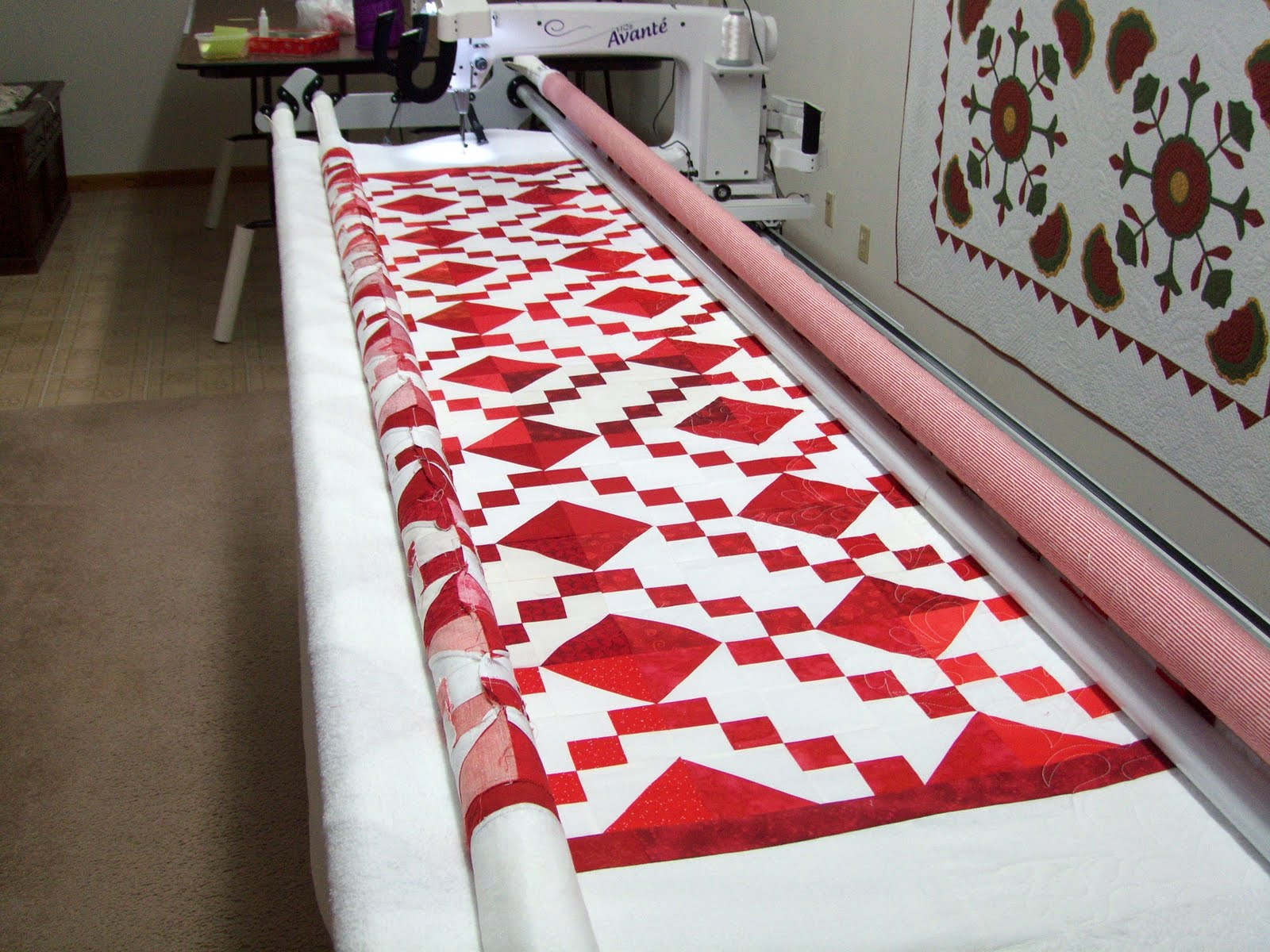 Under Quilted Covers: A Red & White Quilt Comes My Way : red and white quilt - Adamdwight.com