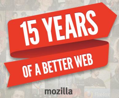 Mozilla Celebrates 15 Years of a Better Web