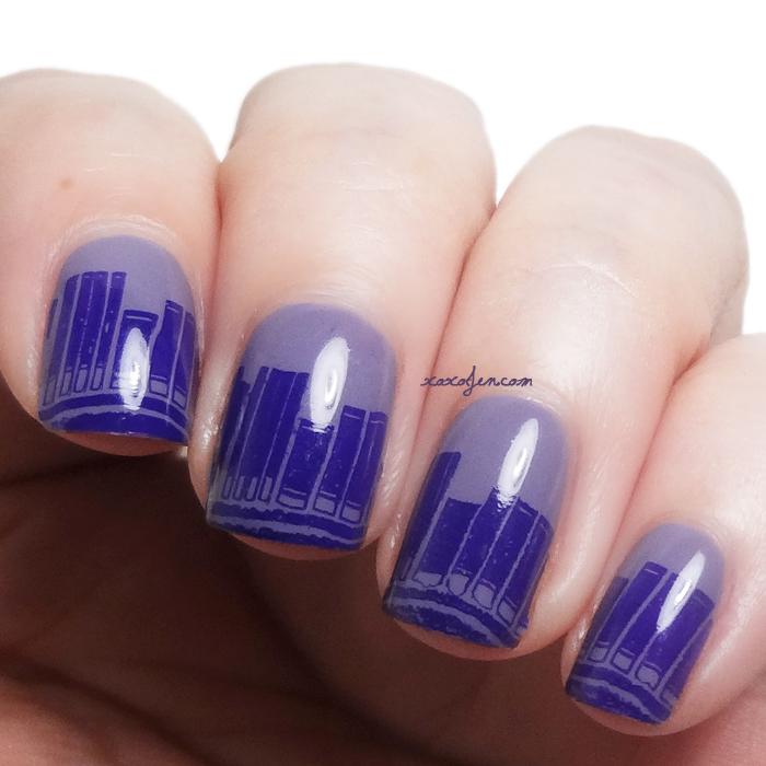 xoxoJen's nail art Vivid Lacquer VL003 Books and Literary Lacquers