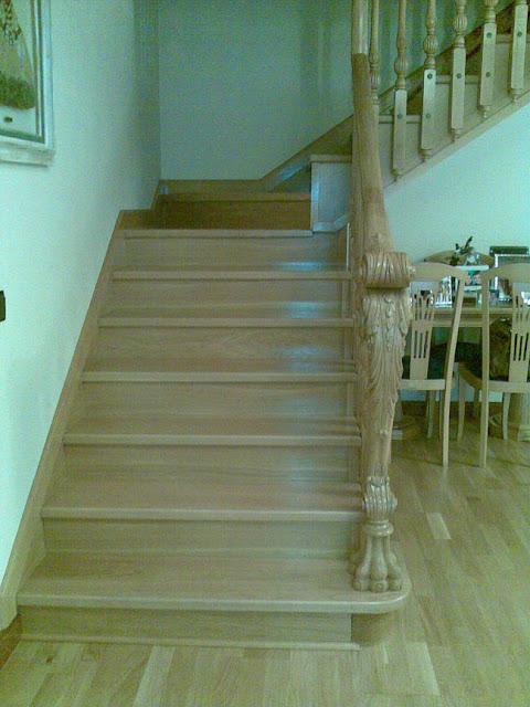 Escaleras y barandillas de madera en Madrid