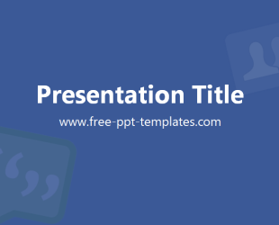 facebook ppt template free powerpoint templates. Black Bedroom Furniture Sets. Home Design Ideas