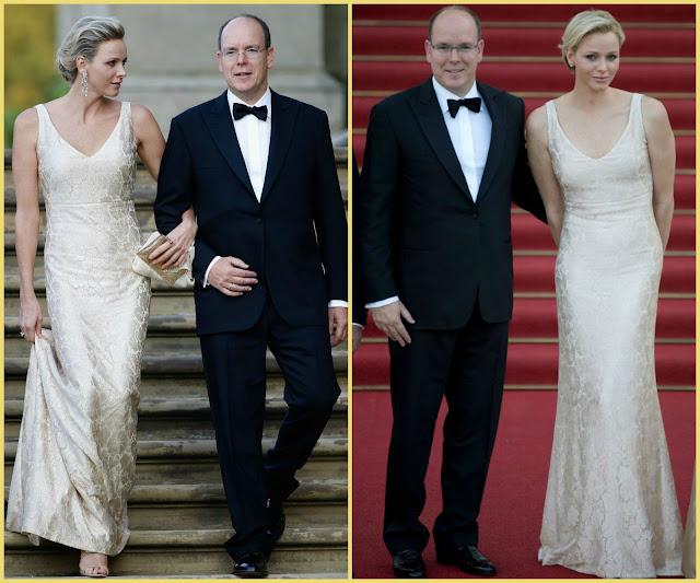 Princess Charlene Dior dress 2015