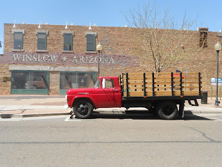 ford flatbed truck taking it easy
