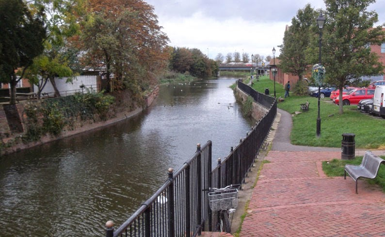 The former towpath of the Old River Ancholme, Brigg
