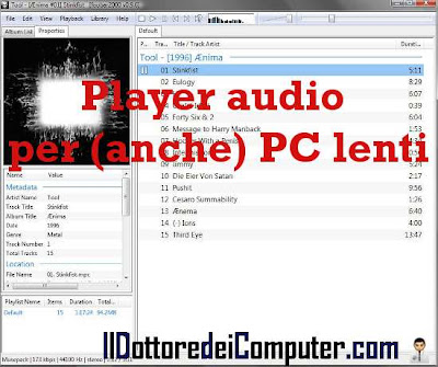 foobar player audio