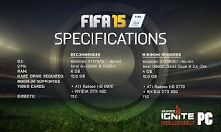 Cara Instal FIFA 15 dan Spesifikasi yang Support pada komputer anda