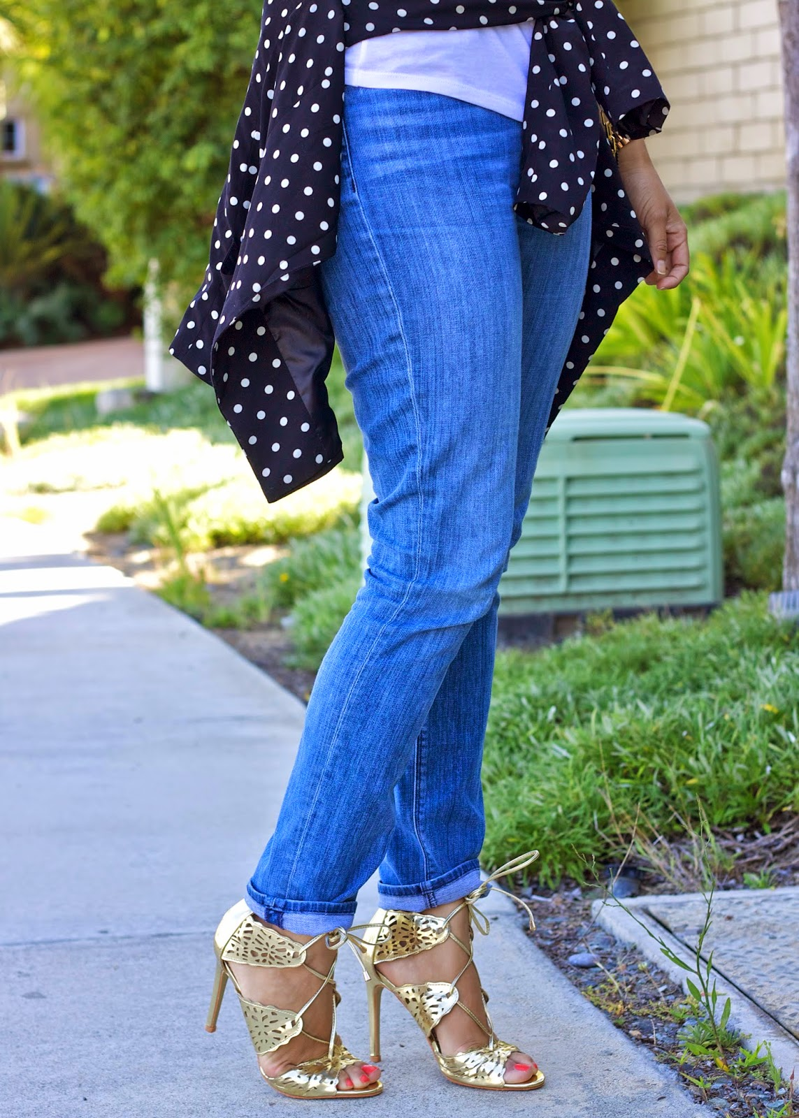 gold lace up sandals, gold heel sandals, hudson gia jeans, hudson skinny jeans blogger, san diego blogger, fashion week sd