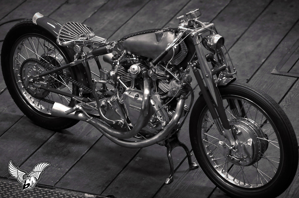vincent black shadow by falcon motorcycles | photo by lance dawes