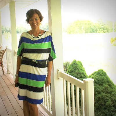 striped rayon jersey dress