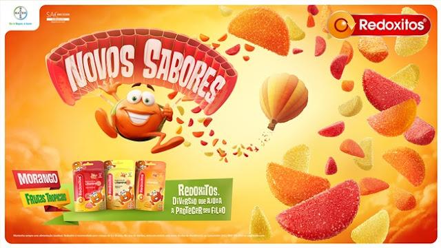 PressKit, Redoxitos®, Frutas, Morango, Saúde, Vitaminas, Noticeria, Gomas, Balas, Crianças,