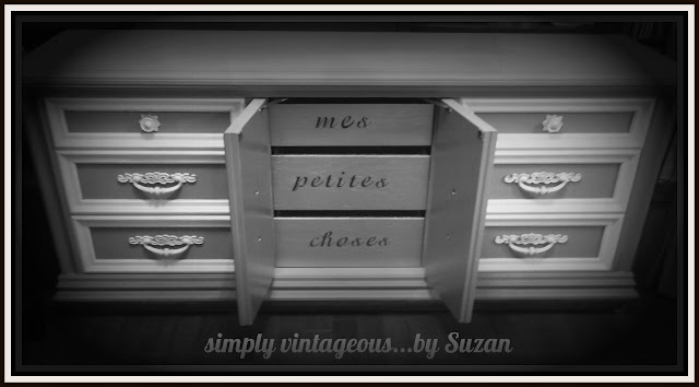 stencil, french, furniture, dresser, makeover, annie sloan, chalk paint, words