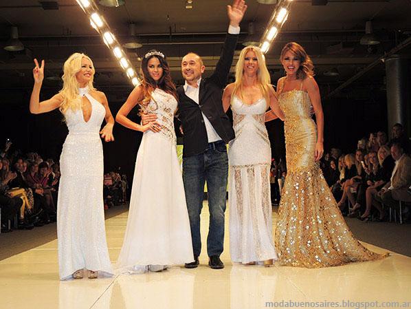 Claudio Cosano vestidos de fiesta 2014. Moda 2014.