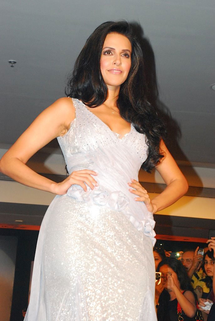 Neha Dhupia Hot Blender Pride events Ramp Walk Pics