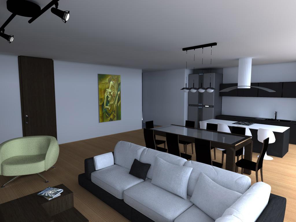 Arq ep apartamento pe as blancas bogota for Sala cocina y comedor en un solo ambiente pequeno