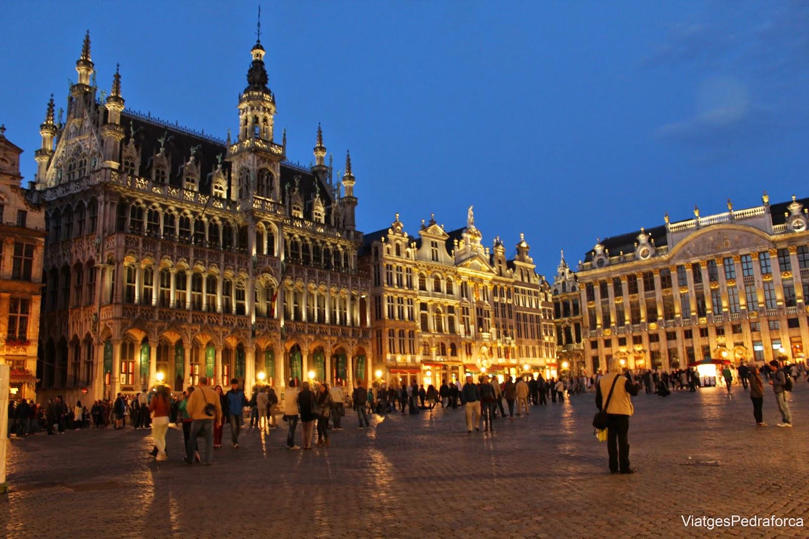 Grand Place de Brussel.les de nit Belgica