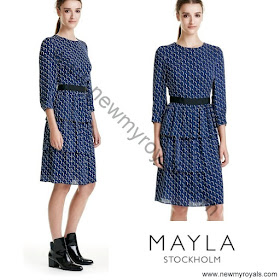 Crown Princess Victoria Style MAYLA Dress and HIPPI GRACE Clutch Bag