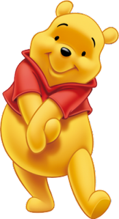 A drawing of Winnie the Pooh
