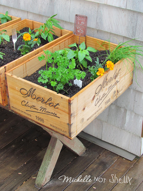 DIY Deck Herb Garden Using Wine Boxes Eco Snippets