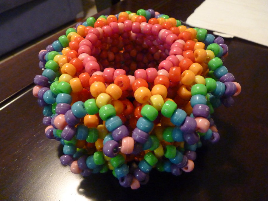 How to make a cage kandi cuff bracelet