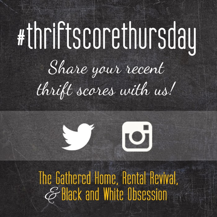 #thriftscorethursday Week 20   Trisha from Black and White Obsession, Brynne's from The Gathered Home, and Megan from Rental Revival