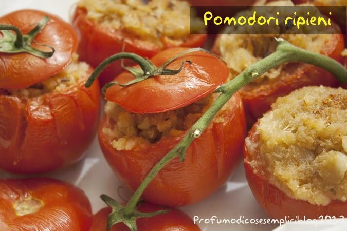pomodori ripieni al microonde (cucina povera)